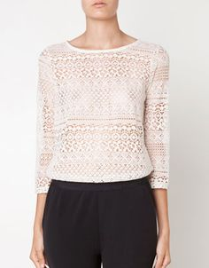 In love with this lace top - Oysho