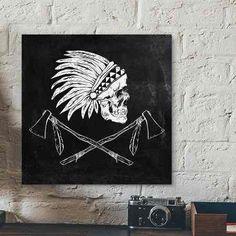 placa tribal skull
