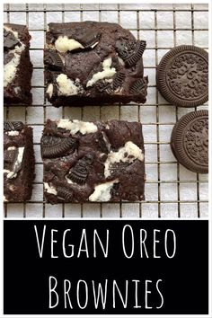 Brownies are always delicious, but they can sometimes become a bit boring. Transform your traditional brownies into a deliciously decadent dessert by adding chunks of Oreo cookies! and Drink deserts dessert recipes Vegan Oreo Brownies - Food by Ayaka Oreo Brownies, Brownie Cheesecake, Vegan Cheesecake, Chocolate Brownies, Cookie Dough Cake, Chocolate Chip Cookie Dough, Cookie Bars, Chocolate Cookies, Chocolate Desserts