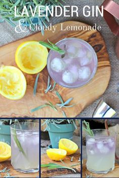 Lavender Gin & Cloudy Lemonade. You'll want to pin this recipe ready for Summer