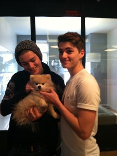 Jack and Finn with a Pomeranian?! :)