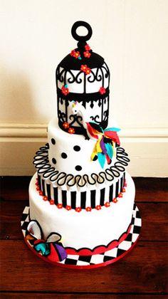 Pierrot inspired wedding cake