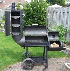 Amerikaanse super smoker Oklahoma joe country smoker barbecue
