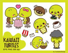 50% OFF Turtle clipart kawaii turtle clip art cute turtle