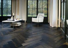 Dark Herringbone Flooring