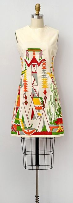 vintage 1960s dress   Desert Dwelling Dress