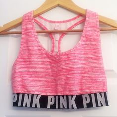 PINK Sports Bra Size Large Too cool! Victoria's Secret PINK sports bra- size large. EUC- wore once and decided to sell. Great fit for a C to D cup. Fair offers considered thank you for looking  PINK Victoria's Secret Intimates & Sleepwear Bras