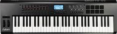 Hal Leonard - Axiom Portable Keyboard with 61 Piano-Size Semi-Weighted Keys - Black