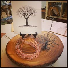 Working with Wire Provocation. Tree Study {from The Curious Kindergarten}