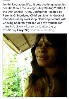 "Join me for my workshop ""Raising Grieving Children While Your Grieving"" #Survivor #Widow #Homicidesurvivor"