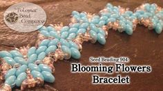 .Blooming Flower components for bracelets or earrings.  Another way to use 2 hole beads ~ Seed Bead Tutorials