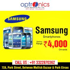 Samsung Smartphones Starting Range Rs.4,000 Onwards