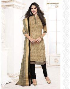 Shree Ganesh Cotton Self Design Salwar Suit Dupatta Material: Fabric Designer Salwar Kameez, Salwar Kurta, Cotton Salwar Kameez, Churidar Suits, Anarkali, Salwar Suits Party Wear, Dress Suits, Suits For Women, Women Wear
