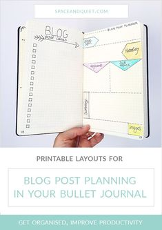 When inspiration for a blog post strikes it's good to have a designated place to jot down ideas. A notebook, or bullet journal, is perfect for keeping blog ideas and notes organised. Planning blog posts in the bullet journal is easy when you have a set layout to work to. Download my free printable blog planner layouts to use in your bullet journal or planner. #blogplanner #blogpostplanner #printableblogpostplanner #bulletjournal #bloggersbulletjournal #bulletjournaling #blogpostplanning Bullet Journal Printables, Bullet Journal Hacks, Bullet Journal How To Start A, Journal Template, Bullet Journal Layout, Bullet Journal Inspiration, Journal Ideas, Free Planner, Printable Planner