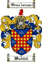 Waddell Coat of Arms / Waddell Family Crest gifts at www.4crests.com
