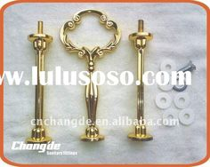 3 tier golden cake stand hardware /cake stand handles CD-PI002