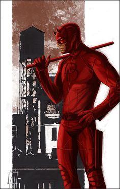 Daredevil - rooftop posing 1 by deralbi Daredevil Matt Murdock, Daredevil Elektra, Marvel Heroes, Marvel Comics, Captain America Sketch, Deathstroke, Batman Vs, Comic Books Art, Comic Art