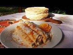 Palacsinta recept Túrós Palacsinta / Szoky konyhája / - YouTube Cooking, Ethnic Recipes, Youtube, Food, Meal, Kochen, Essen, Hoods, Meals