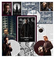"""Batman Trilogy: James Gordon"" by jerana97 ❤ liked on Polyvore featuring art"