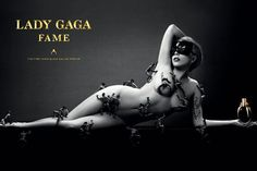 Promo shot for Lady Gaga's Fame perfume line.