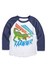 Chaser 'Raawwr' Graphic Raglan T-Shirt (Toddler Boys, Little Boys & Big Boys)