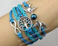 Jewelry Bracelet Tree of life Bracelet Silvery Karma by handworld, $5.99