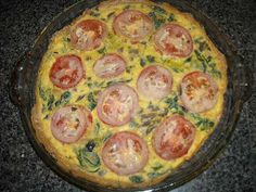 Spinach Fritata, this whole pie is ONE serving for a lean and green meal! The hubs will for sure fill up on this one!
