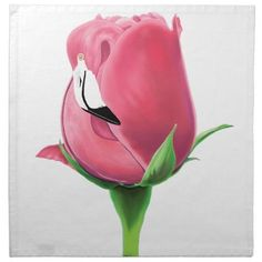 Flamingo Rose Cloth Napkin
