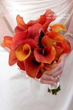 Orange calla lily combination.