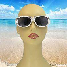 White Sunglasses - White Eyewear - Fashion Eyewear - Bridal shower Gifts - Wedding Party Gifts - Wedding Glasses - Pearl Sunglasses on Etsy, $29.00
