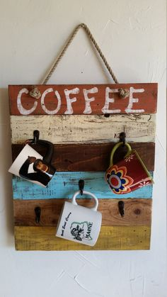 Rustic handmade hand painted wooden Coffee by RustyBarrelCreations