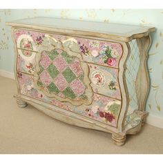 Bohemian Mosaic Three-Drawer Dresser from PoshTots- wow that looks like it's straight out of a fairytale book