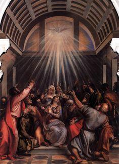 The Descent of the Holy Ghost c. 1545 Oil on canvas, 570 x 260 cm Santa Maria della Salute, Venice