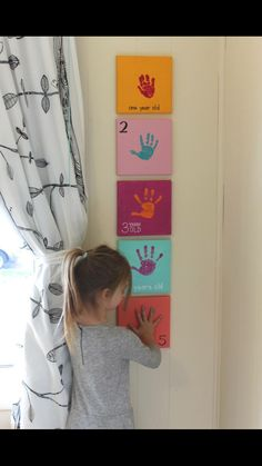 Yearly hand print to do with kids! Great keepsake!