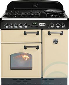 Buy White Rangemaster Classic 90 Gas Range Cooker, Natural Gas, White/Chrome Trim from our Cookers range at John Lewis & Partners. Induction Range Cooker, Electric Range Cookers, Dual Fuel Range Cookers, 1920s Kitchen, Huge Kitchen, Vintage Kitchen, 90cm Range Cooker, Natural Gas Stove, Copper Farmhouse Sinks