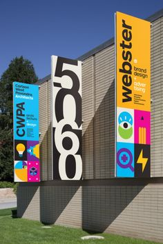 Webster/CWPA Building Banners - Graphis