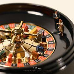 As divertidas fotografias de miniaturas com objetos do dia a dia de Tatsuya Tanaka