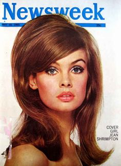 The inspiration: Jean Shrimpton's sleek but substantial style on a 1965 Newsweek cover. |