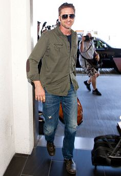 Gerard Butler flashed a smile at LAX