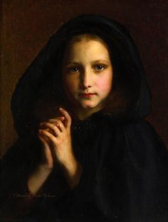 Femme dans on Manteau by Étienne Adolphe Piot – was a French painter known for his portraits of beautiful young women. He exhibited in the Paris Salons from 1850 to Little is known about his life. L'art Du Portrait, William Adolphe Bouguereau, Classical Art, Chiaroscuro, Renaissance Art, French Art, Beautiful Paintings, Belle Photo, Love Art