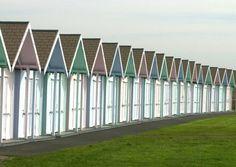 Beach huts in ice-cream shades, Southsea.