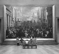 John Gutmann, Children in the Louvre, 1957