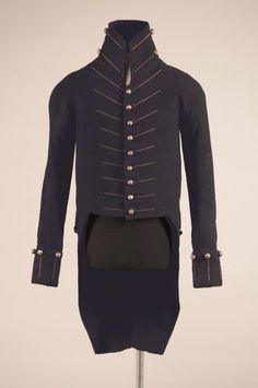 Uniform coat of Lt. Philogène Favrot, 24th U.S. Infantry Regiment, ca. 1813, wool and silver. Louisiana State Museum.