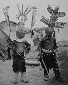 Apache Spirit Dancers. Photographed 1887.