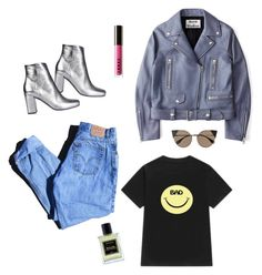 """$。$"" by dorisruiyingli ❤ liked on Polyvore featuring Levi's, Acne Studios, WithChic, Yves Saint Laurent, LORAC, Jardins D'Écrivains and Fendi"