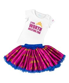 So cute for my little princess who says she's not into princesses anymore. But she LOVES this! #zulily!  #zulilyfinds