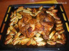 Pečene kura na zemiakoch - Hľadať Googlom Pork, Meat, Chicken, Cooking, Recipes, Foodies, Kale Stir Fry, Kitchen