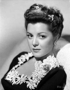 Ann Rutherford Facing at the Camera, wearing a Black Blouse Premium Ar – Movie Star News