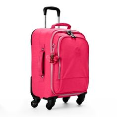 "Yubin 55 Spinner Luggage in Vibrant Pink #Kipling 13.75"" L x 21.5"" H x 10.5"" D #KiplingSweeps"