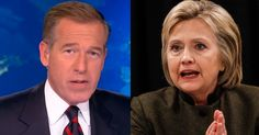 The King And Queen Of Fake News » Lyin' Brian Williams and Crooked Hillary Clinton are notorious for fake news.